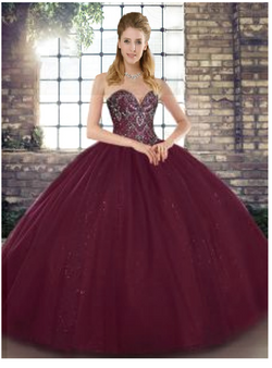 Wine Red Quinceanera Dress QSJQDDT2125002-4