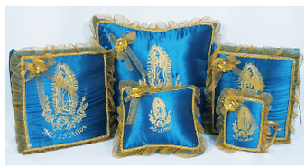 Virgen de Guadalupe Quinceanera Set, up to 7 items, available in any colors combinations