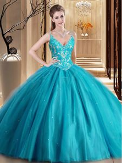Turquoise Quinceanera Dress QSJQDDT951002B