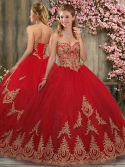 Red Quinceanera Dress   QSPSSW1468