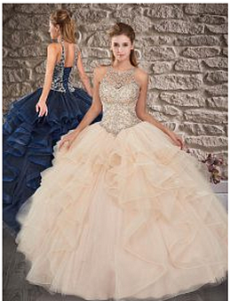 Champagne Quinceanera Dress  QSXFQD1558