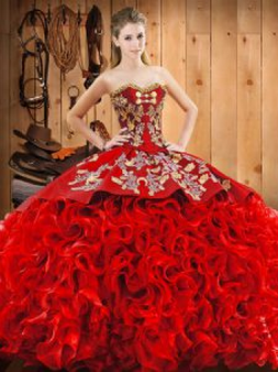 Red Charo Quinceanera Dress