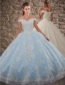 Baby Blue Quinceanera Dress QSXFQD1567-2
