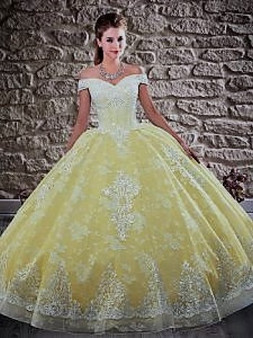 Yellow Quinceanera Dress QSXFQD1567-11