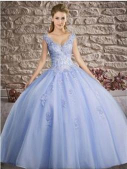 Baby Blue Quinceanera Dress QSXFQD1601