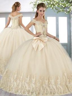 Champagne Quinceanera Dress  QSXFQD1666-11
