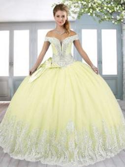 Yellow Quinceanera Dress  QSXFQD1666-6
