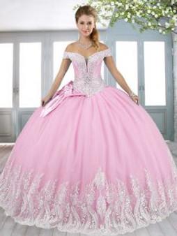 Pink Quinceanera Dress  QSXFQD1666-4