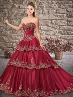 Wine Quinceanera Dress QSXFQD1532-1