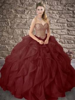 Red Wine Quinceanera Dress QSXFQD1563-11