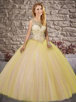 Gold Quinceanera Dress  QSXFQD1538-9