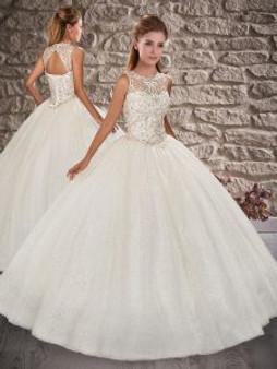 White Quinceanera Dress  QSXFQD1519