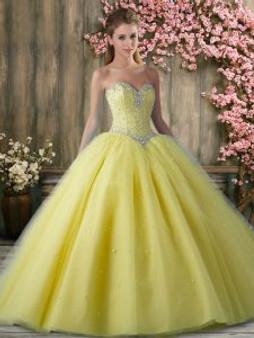 Yellow Quinceanera Dress