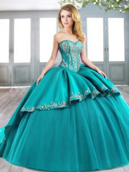 Embroidered Quinceanera Dress