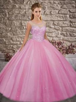 Beaded Pink Quinceanera Dress