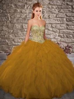 Sweetheart Gold Quinceanera Dress