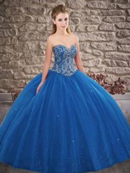 Sweetheart Blue Quinceanera Dress