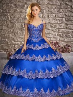 Ruffled Layers Blue Quinceanera Dress
