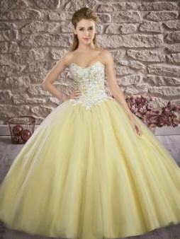 Glittering Yellow Quinceanera Dress