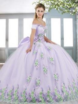 Floral Lilac Quinceanera Dress