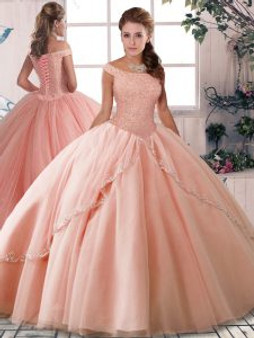Off the Shoulders  Blush Quinceanera Dress