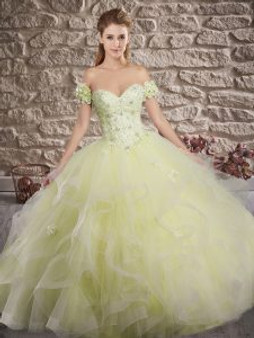 Delicate Yellow Quinceanera Dress