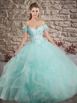 Delicate Aqua Quinceanera Dress