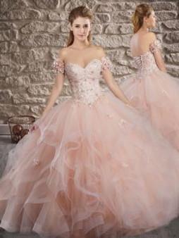 Delicate Blush Quinceanera Dress