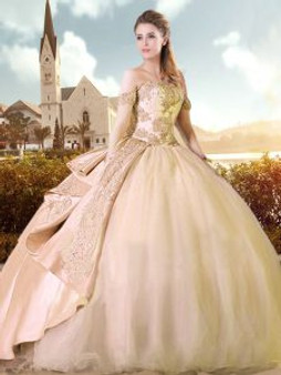 Charming Champagne Quinceanera Dress