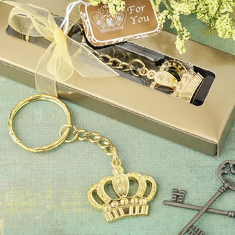 Gold Metal Crown design Key Chain (as low as $ 1.09)