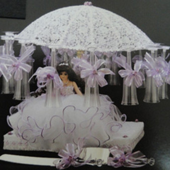 Umbrella Quinceanera Toasting Set, available in all colors
