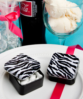 Zebra stripe design mint tins  (as low as $ 0.89 )