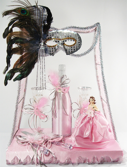 Masquerade Quinceanera Small Toasting Glass Set ,  available  in all colors