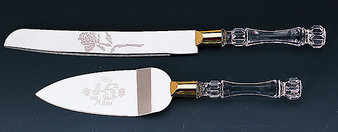 "Quinceanera Cake Knife and Server Set with ""Mis 15 Años"" Engraved"