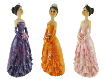"""Quinceanera Figurine, 4.75"""" many colors available (12)"""