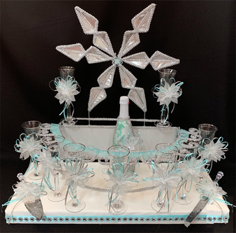 Winter Wonderland Quinceanera Toasting Set, available in all colors