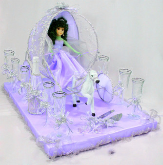 Carriage Quinceanera Toasting Set, available in all color