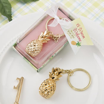Gold Pineapple Keychain (as low as $ 1.98)