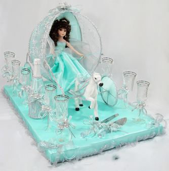 Carriage Quinceanera Toasting Set, available in all  colors