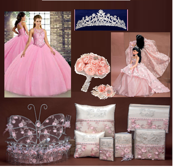 Butterfly Quinceanera Package available in all colors  up to 12 items