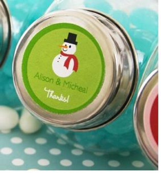 Personalized Winter design Candy Jar (as low as $ 1.09)