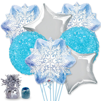 Snowflake Balloon Bouquet Kit, 7 balloons