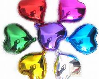 18 inches Metallic Hearts Balloons, 20 pieces many colors