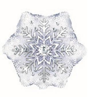 Prism Pattern Snowflake Balloon