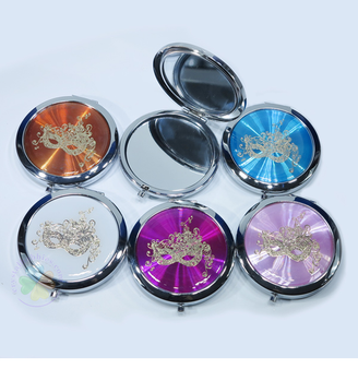 Masquerade Mask Compact Mirror, many colors Pack of 12
