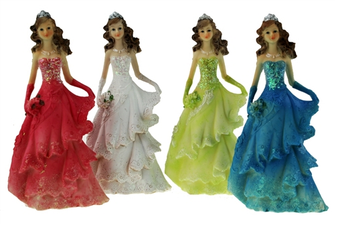 "8"" Quinceanera Figurine, available in many colors"