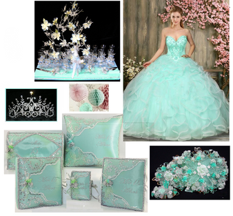 Mint Green Quinceanera Dress Package available in all colors  up to 12 items