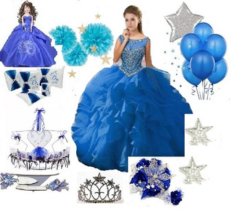 Stars Quinceanera Dress Package available in all colors  up to 12 items