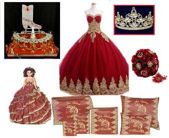 Charra  Quinceanera Dress Package  available in all colors  up to 12 items