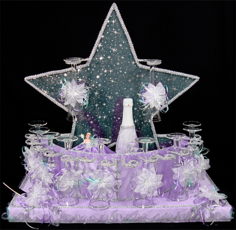 Star Quinceanera Toasting Set,  available in all colors